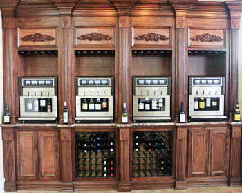 Wine Tasting Machine at the Wine Academy